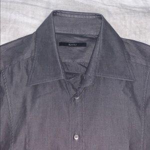 Gucci French Cuff charcoal dress shirt 44/17.5